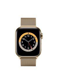 Złoty zegarek APPLE wakacyjny, smartwatch