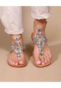 MYSTIQUE SHOES - Skórzane sandały Bay Harbour. Zapięcie: pasek. Kolor: brązowy. Materiał: skóra. Wzór: paski, aplikacja. Obcas: na płaskiej podeszwie