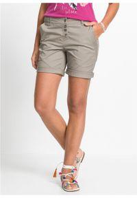 Szare spodnie bonprix krótkie