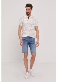 Pepe Jeans - Polo Benett. Typ kołnierza: polo. Kolor: biały. Materiał: dzianina. Długość: krótkie