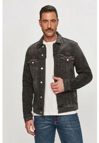 Szara kurtka Calvin Klein Jeans na co dzień, casualowa, gładkie