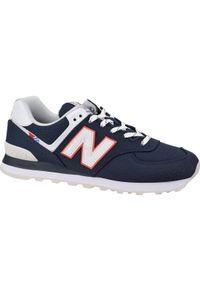 Niebieskie sneakersy New Balance w kolorowe wzory, z cholewką