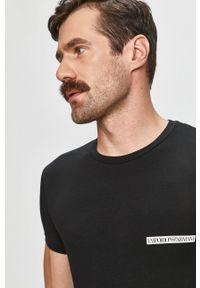 Czarny t-shirt Emporio Armani casualowy, na co dzień #4