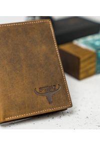 BUFFALO WILD - Skórzany portfel męski j. brązowy Buffalo Wild RM-04-HBW TAN. Kolor: brązowy. Materiał: skóra
