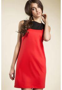 Czerwona sukienka Nife prosta