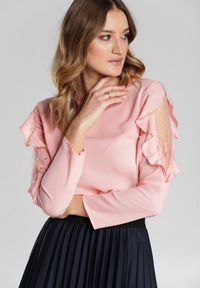 Renee - Łososiowa Bluzka Jacinda. Kolor: różowy