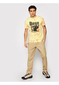 Deus Ex Machina T-Shirt Jukebox Tie Dye DMS2011032 Żółty Regular Fit. Kolor: żółty