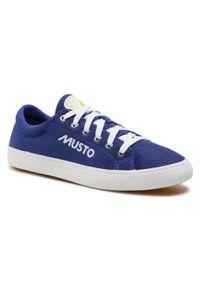Musto - Trampki MUSTO - Nautic Zephyr 82029 Ultra Marine 581. Okazja: na co dzień. Kolor: niebieski. Materiał: materiał. Szerokość cholewki: normalna. Styl: marine
