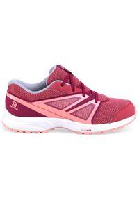 Czerwone buty do biegania salomon z cholewką