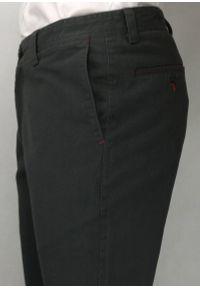 Chiao - Stylowe Spodnie Męskie, 100% BAWEŁNA - Chinosy, MANKIETY, Grafitowe. Kolor: szary. Materiał: bawełna. Styl: elegancki