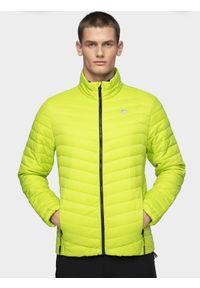 Zielona kurtka puchowa 4f ze stójką