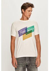 Pepe Jeans - T-shirt Morrison. Okazja: na co dzień. Kolor: biały. Wzór: nadruk. Styl: casual