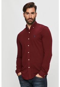 Brązowa koszula Polo Ralph Lauren casualowa, polo, długa, na co dzień