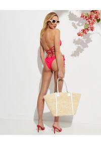 REINA OLGA - Różowe bikini Miami. Kolor: różowy, wielokolorowy, fioletowy. Materiał: materiał
