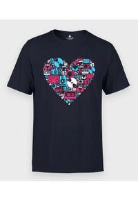 MegaKoszulki - Koszulka męska Muzyczne Serce. Materiał: bawełna #1