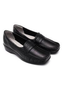Czarne mokasyny PESCO bez zapięcia, eleganckie, w kolorowe wzory #5