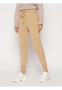 Brązowe spodnie dresowe TwinSet