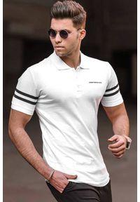 Biały t-shirt IVET polo, na co dzień, casualowy