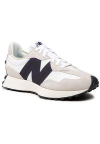New Balance - Sneakersy NEW BALANCE - MS327FE Biały Szary. Kolor: wielokolorowy, szary, biały. Materiał: zamsz, materiał, skóra. Szerokość cholewki: normalna. Styl: klasyczny