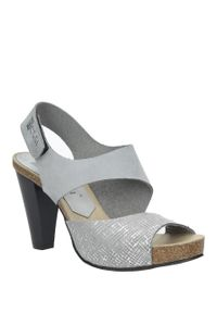 Szare sandały Nessi na lato