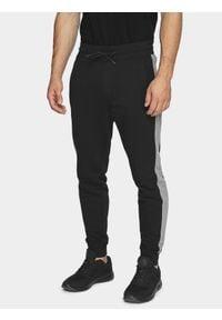 4f - Spodnie dresowe męskie. Kolor: czarny. Materiał: dresówka. Wzór: gładki