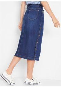 """Spódnica dżinsowa """"authentic-stretch"""" bonprix niebieski. Kolor: niebieski"""
