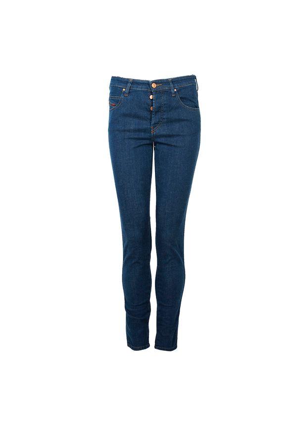 """Diesel Jeansy """"Babhila"""". Materiał: jeans. Wzór: aplikacja"""