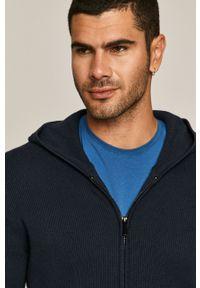 Niebieski sweter rozpinany medicine na co dzień, casualowy