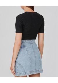 ACLER - Mini spódnica jeansowa. Stan: podwyższony. Kolor: niebieski. Materiał: jeans. Sezon: lato