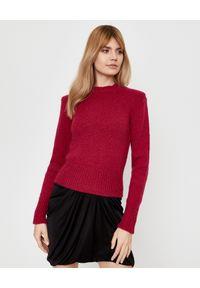 ISABEL MARANT - Wełniany sweter Erwany. Okazja: do pracy, na co dzień. Kolor: czerwony. Materiał: wełna. Długość rękawa: długi rękaw. Długość: długie. Styl: klasyczny, casual