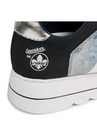 Rieker - Sneakersy RIEKER - L3312-14 Blau. Okazja: na co dzień, na spacer. Kolor: niebieski. Materiał: skóra ekologiczna, materiał. Szerokość cholewki: normalna. Sezon: lato. Styl: casual