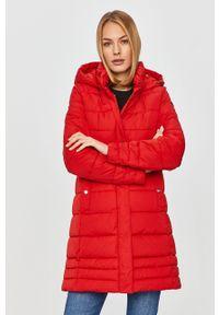 Czerwona kurtka Geox na co dzień, z kapturem, casualowa