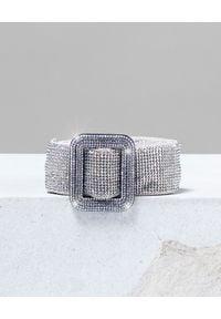BENEDETTA BRUZZICHES - Srebrny pasek z kryształów Venus Belt. Kolor: srebrny. Materiał: jedwab. Styl: wizytowy