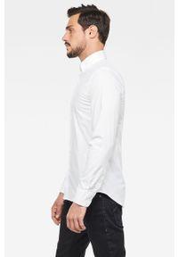 Biała koszula G-Star RAW casualowa, na co dzień, długa