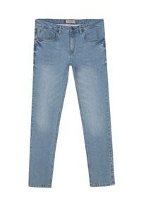 Niebieskie spodnie TOP SECRET casualowe, do pracy, na wiosnę