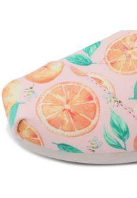 Toms - Półbuty TOMS - Alpargata 10016253 Pale Pink/Sunkissed Oranges. Okazja: na co dzień. Kolor: pomarańczowy. Materiał: materiał. Szerokość cholewki: normalna. Sezon: lato. Styl: casual