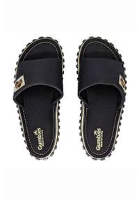 Gumbies - Klapki. Nosek buta: okrągły. Kolor: czarny. Materiał: bawełna, materiał, guma. Wzór: gładki