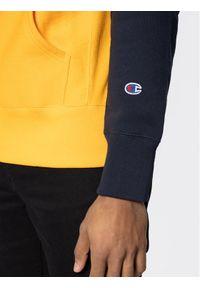 Champion Bluza Script Bicolor 214277 Żółty Regular Fit. Kolor: żółty