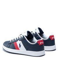 Polo Ralph Lauren - Sneakersy POLO RALPH LAUREN - Oakview RF102879 Navy/Red. Okazja: na co dzień. Kolor: niebieski. Materiał: skóra ekologiczna, materiał. Szerokość cholewki: normalna. Styl: casual