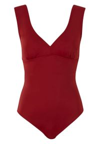 Kostium kąpielowy shape Level 1 bonprix ciemnoczerwony. Kolor: czerwony