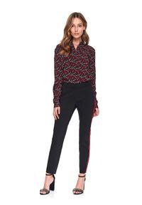 TOP SECRET - Spodnie długie damskie cygaretki. Kolor: czarny. Długość: długie. Sezon: wiosna