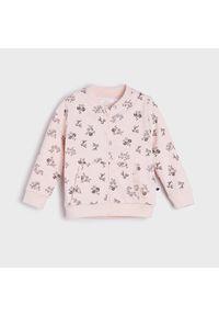 Sinsay - Bluza bomber w kwiaty - Różowy. Kolor: różowy. Wzór: kwiaty