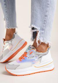Renee - Białe Sneakersy Tryxtia. Kolor: biały. Materiał: nubuk, syntetyk