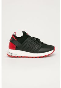 Czarne buty sportowe DKNY na obcasie, na średnim obcasie
