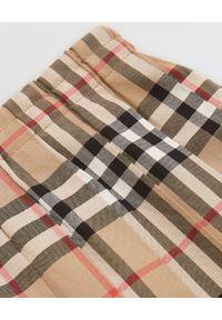 BURBERRY CHILDREN - Plisowana spódnica w kratkę 3-14 lat. Kolor: brązowy. Materiał: bawełna. Wzór: kratka. Sezon: lato. Styl: vintage