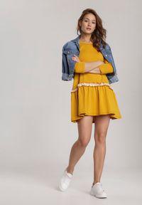 Żółta sukienka letnia Renee