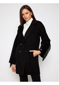 Czarny płaszcz przejściowy Marella