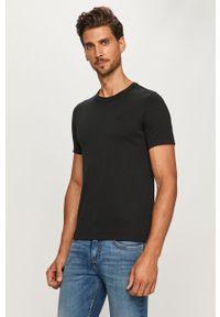 Czarny t-shirt Levi's® na spotkanie biznesowe, z okrągłym kołnierzem