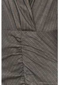 Szara sukienka Silvian Heach mini, z długim rękawem