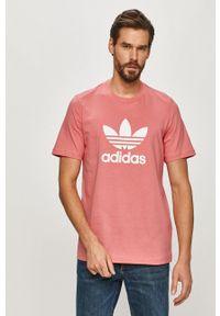 adidas Originals - T-shirt. Okazja: na co dzień. Kolor: różowy. Materiał: dzianina. Wzór: nadruk. Styl: casual
